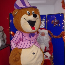 Sir E. Bear and Santa