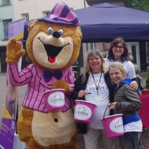Cara Readle with the Cerebra Fundraising Team