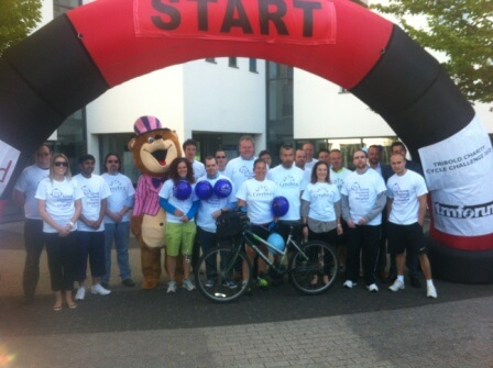 The team from Tribold who raised over £8000 on a gruelling cycle ride