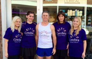 Michael Harris with his fundraising helpers!