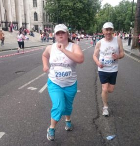 Alissa running in the London 10k