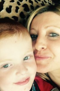Lisa and her son Frankie