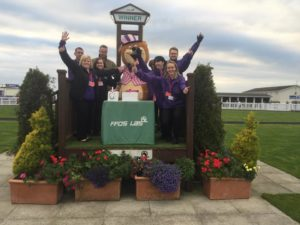 Cerebra's fundraisers at Ffos Las