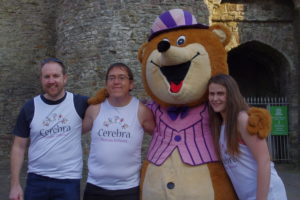 Neil, Emyr and Aimee with Sir E. Bear