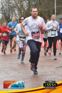Ben during the Cardiff World Half Marathon