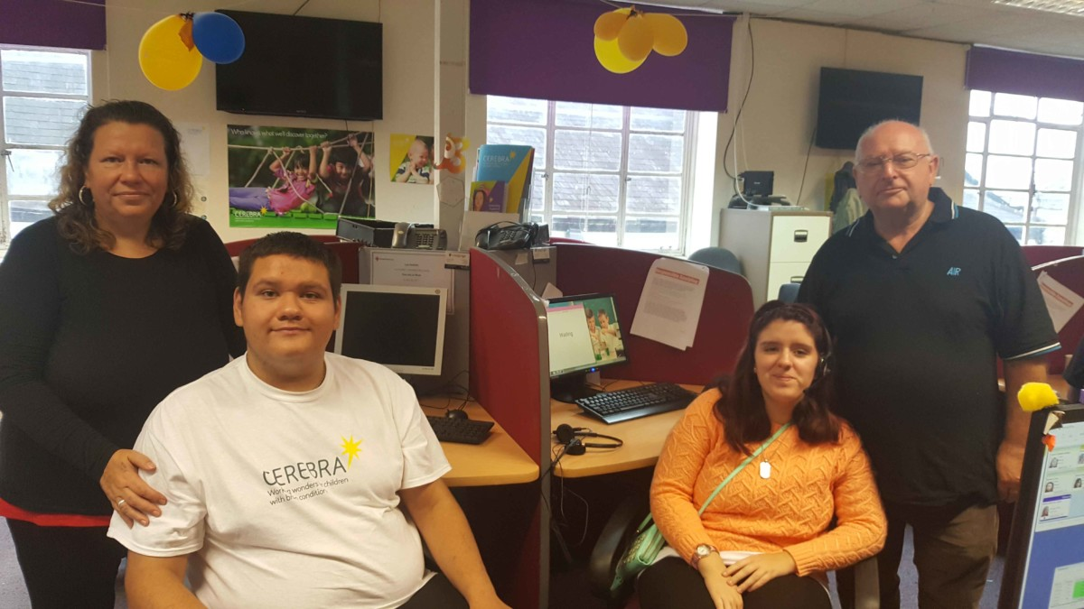 Samuel, Angel, Jacky and Barry in our Fundraising Office