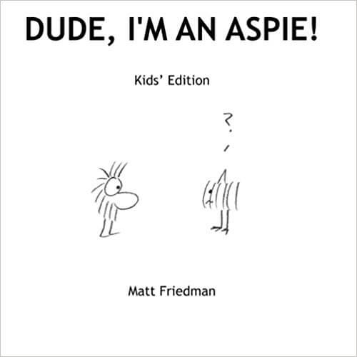book cover - dude I'm an aspie