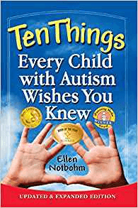book cover - ten things every child with autism wishes you knew