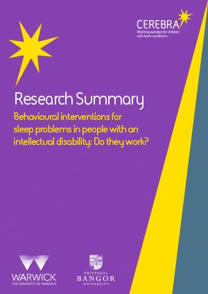 Behavioural interventions for sleep problems - Cerebra