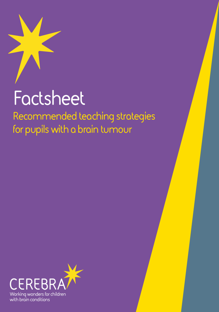 Factsheet Recommended teaching stratgies for pupils with a brain tumour