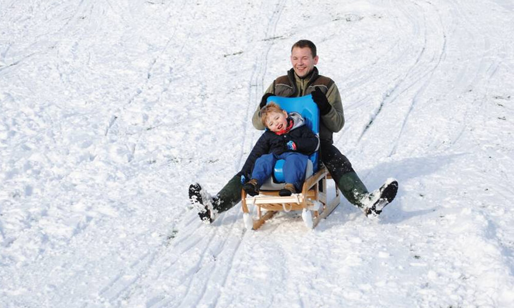 Disabled child's sledge.