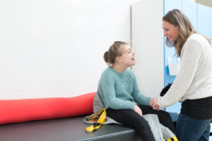 Girl receiving physio