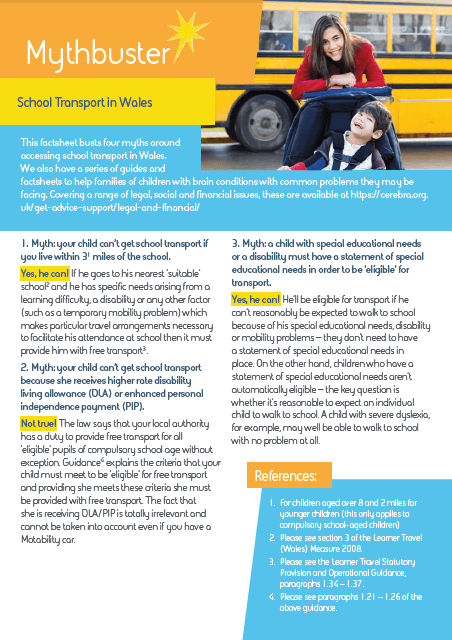 School Transport in Wales mythbuster