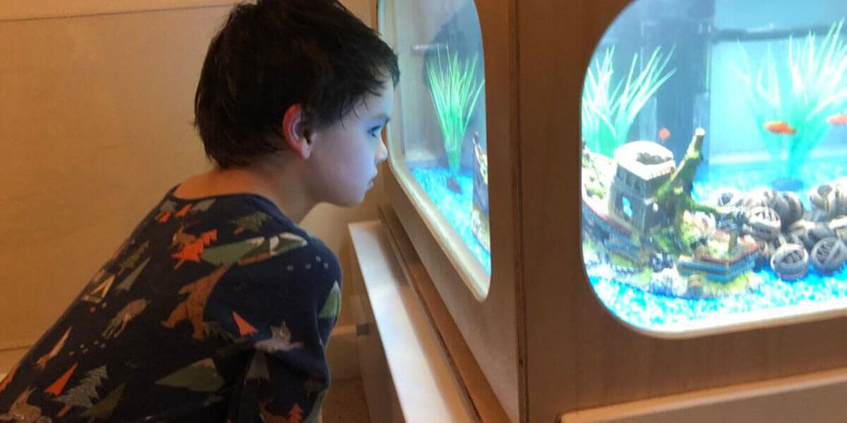 Ethan and his CIC fish tank