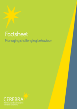 Factsheet - Managing Challenging Behaviour - Cerebra the charity for children with brain conditions
