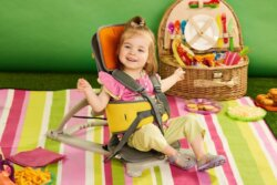 Little girl on her GoTo seat.
