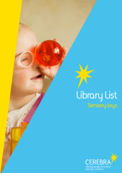 Library List Sensory Toys - Cerebra the charity for children with brain conditions